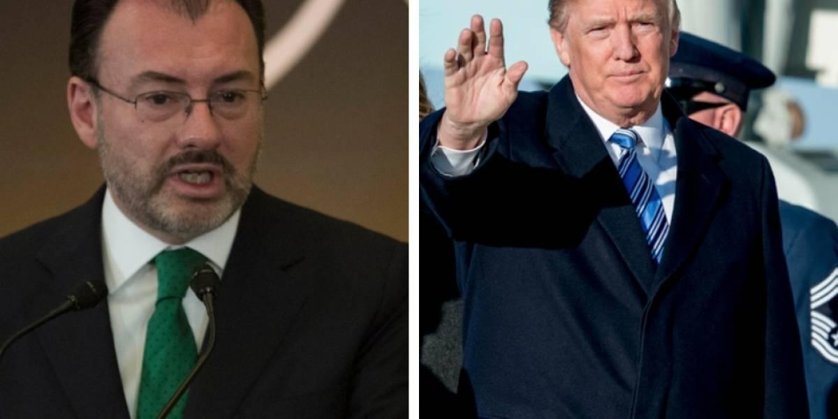 Tráfico de drogas es responsabilidad compartida entre Mexico y EU: Videgaray a Trump