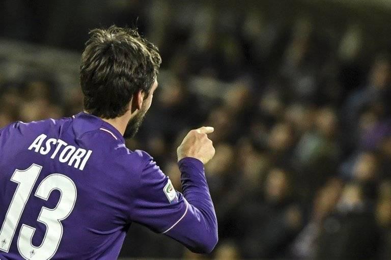 Davide Astori con la Fiorentina