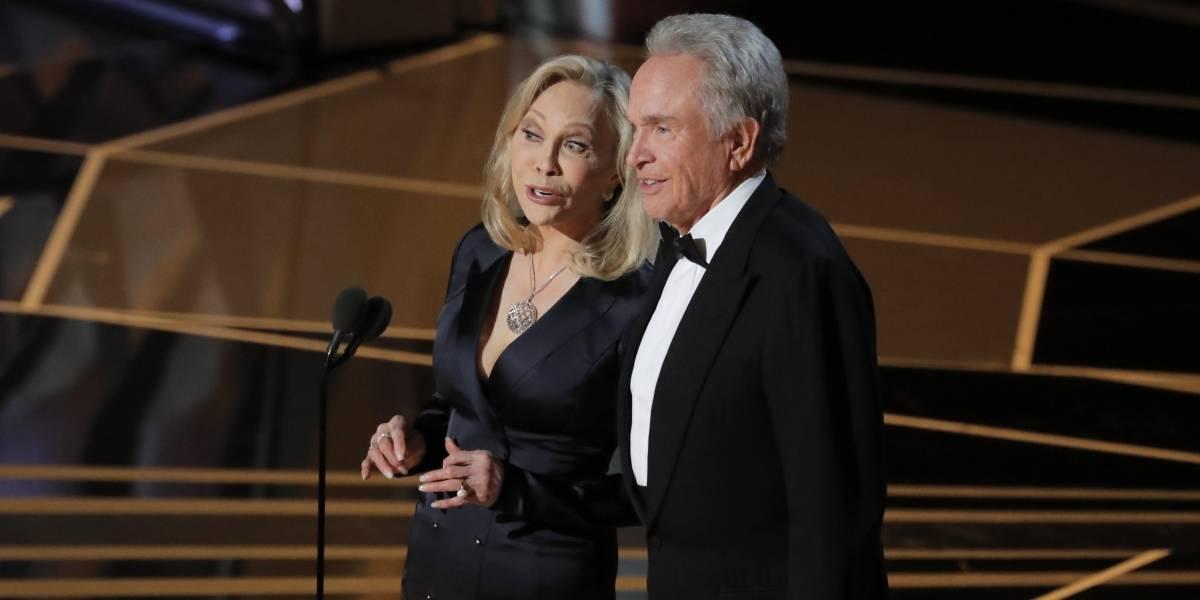 Olha eles! Warren Beatty e Faye Dunaway voltam ao Oscar e apresentam Melhor Filme