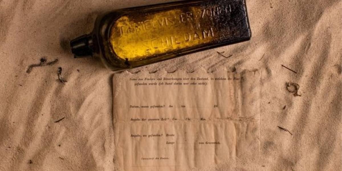 A mensagem de garrafa que passou 132 anos no mar