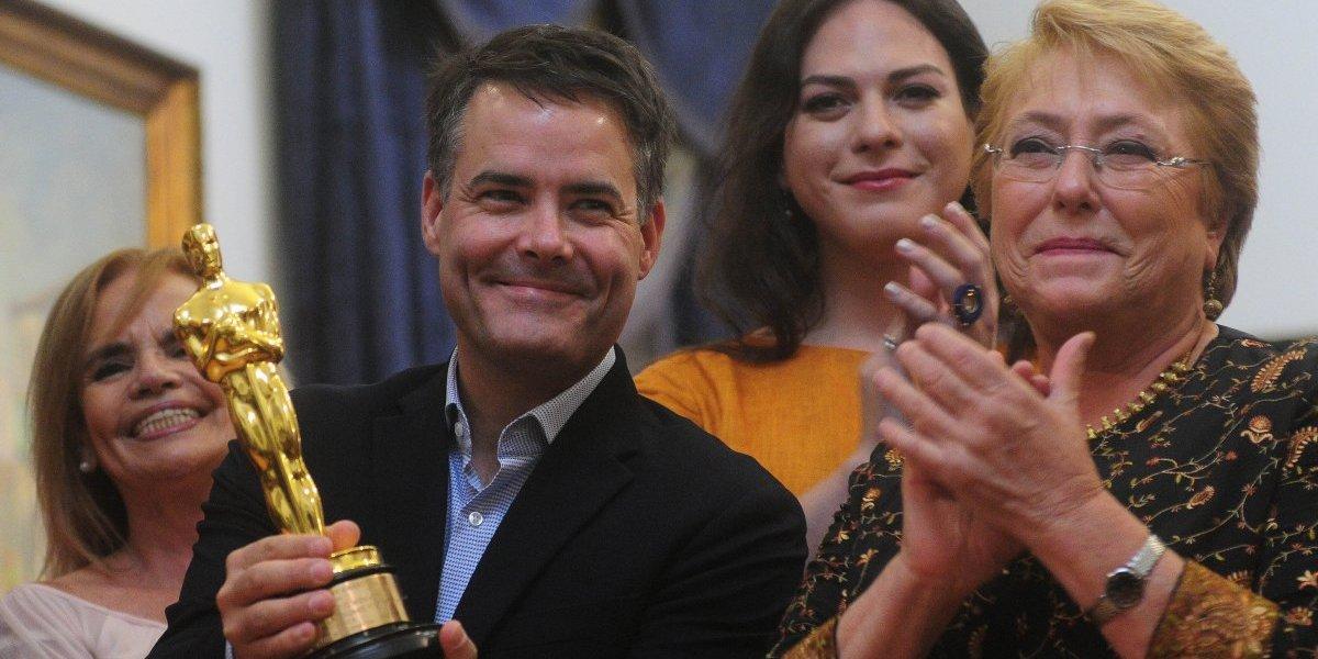 Daniela Vega, Lelio y Bachelet festejaron el Oscar en La Moneda