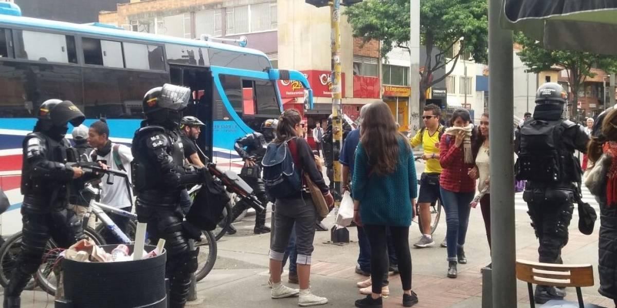 Cierres viales y desvíos de TransMilenio por manifestaciones en el norte de Bogotá