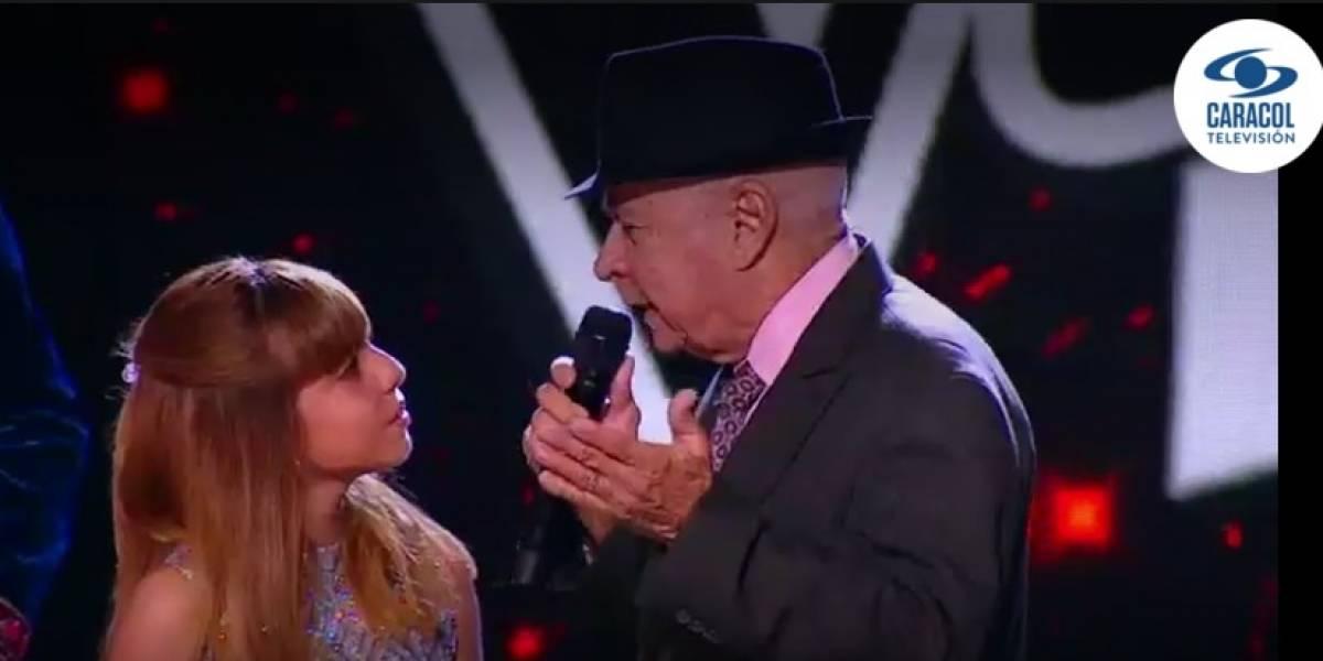 Abuelo hizo llorar a los televidentes de 'La voz kids'