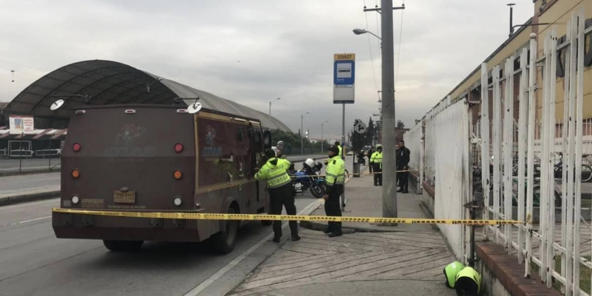 Robo a un carro de valores en Bogotá dejó un herido