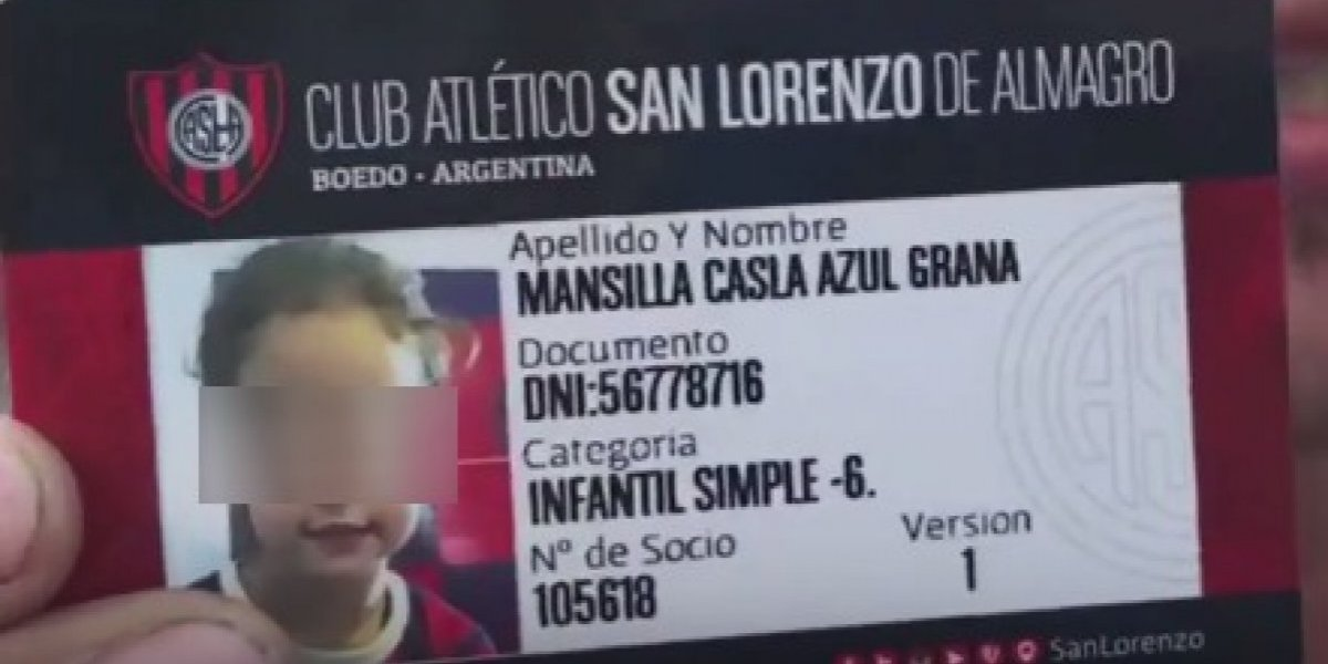 Aficionado le pone a su hija nombre del Club San Lorenzo