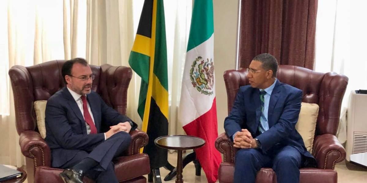 Videgaray se reúne con primer ministro de Jamaica para fortalecer lazos políticos