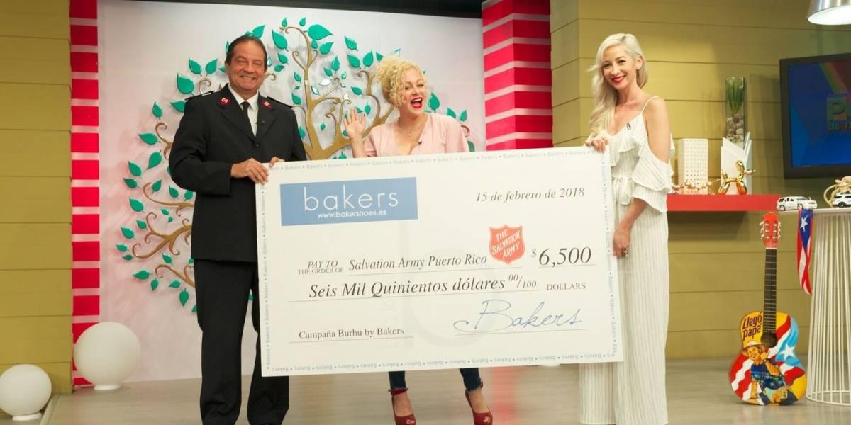 Burbu dona más de 6 mil dólares al Salvation Army