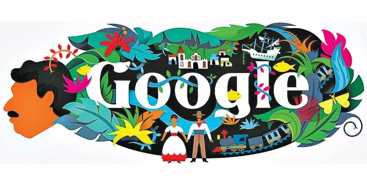 """Google celebra natalicio 91 de Gabriel García Márquez con """"doodle"""" de Macondo"""