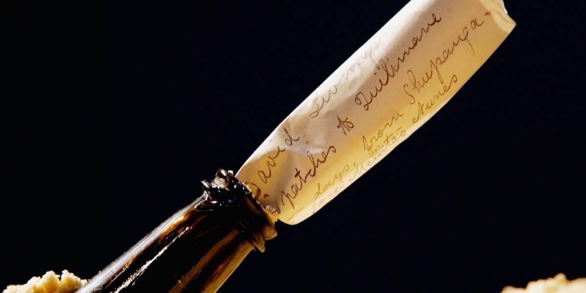 El más antiguo de la Historia: Hallan en Australia un mensaje dentro de una botella de ginebra del siglo XIX