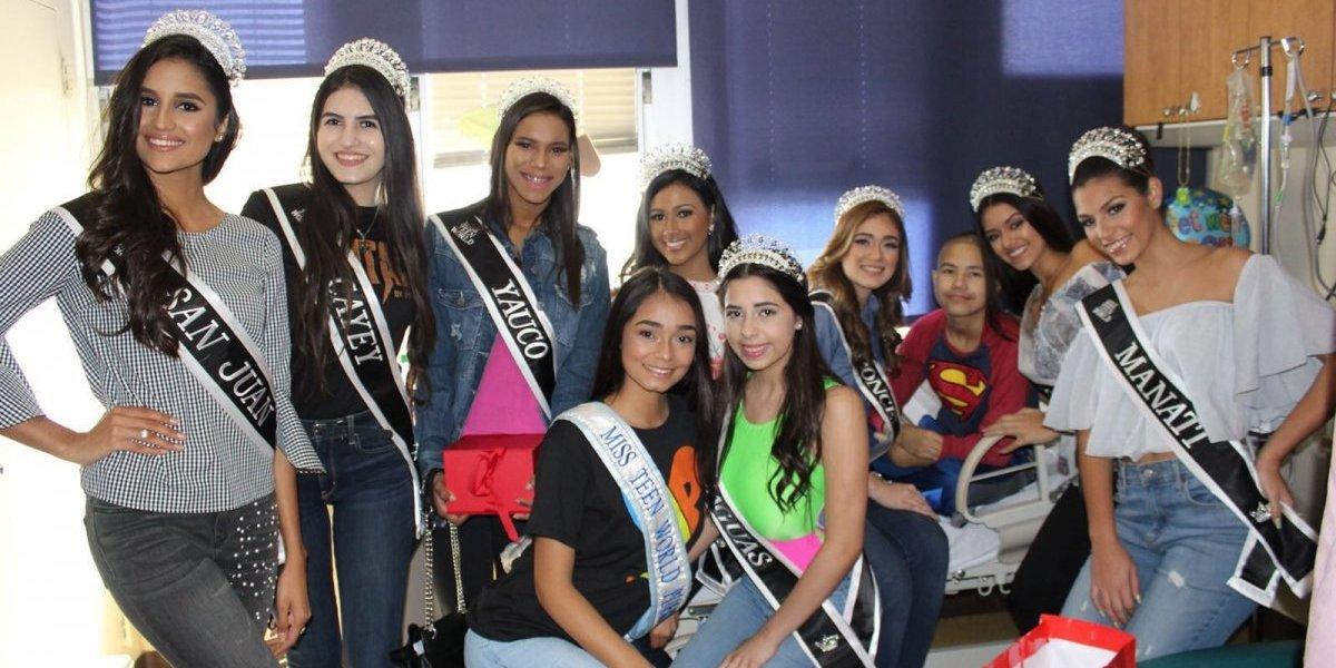 Candidata Miss Teen World P. R. 2018 regalan alegría a pacientes Hospital Pediátrico Universitario
