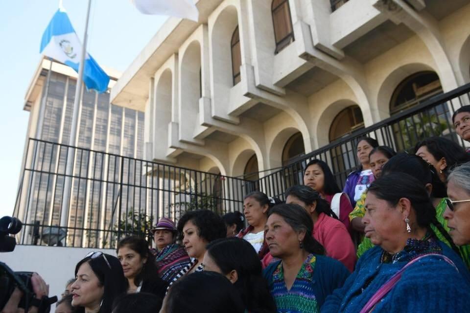 Manifestación frente a CSJ por caso Hogar Seguro Foto: Omar Solís