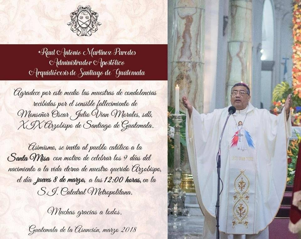 misa de nueve días de Vian Morales