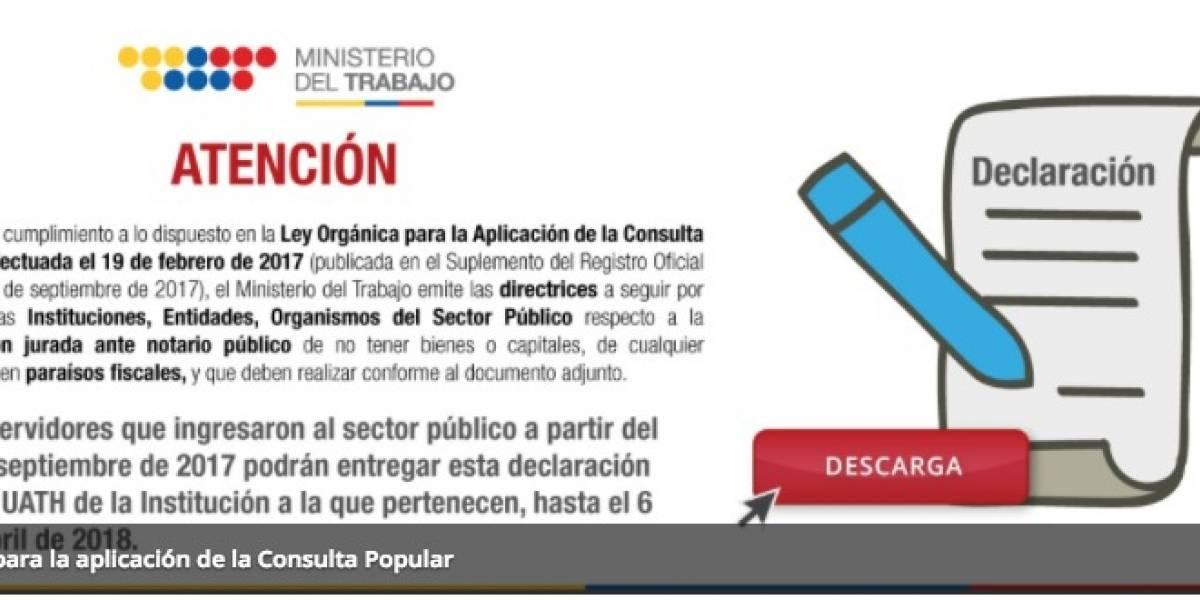 Ministerio de Trabajo: Declaración jurada se podrá presentar hasta el 6 de abril