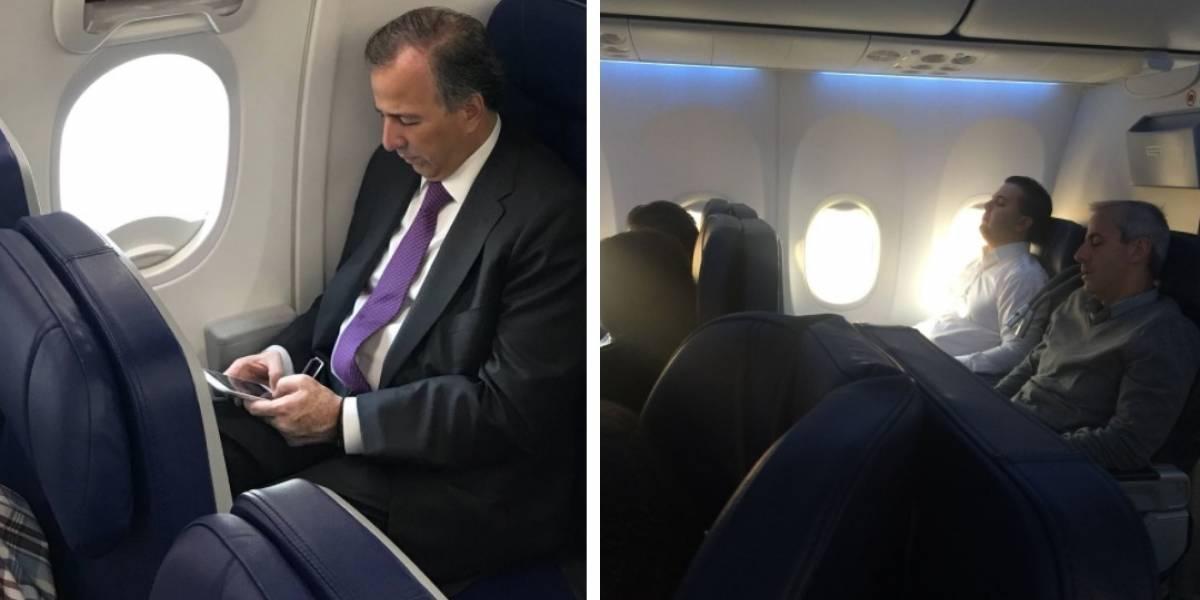 Zepeda y Meade comparten vuelo a Jalisco; uno en primera clase y el otro en turista