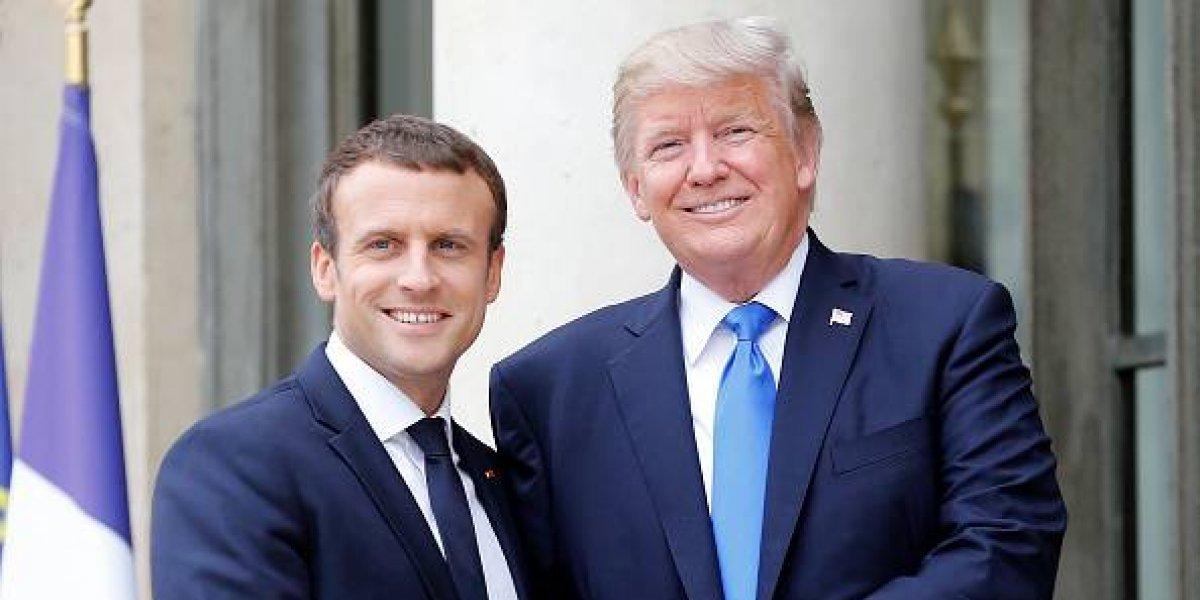 La relación improbable entre Trump y Emmanuel Macron