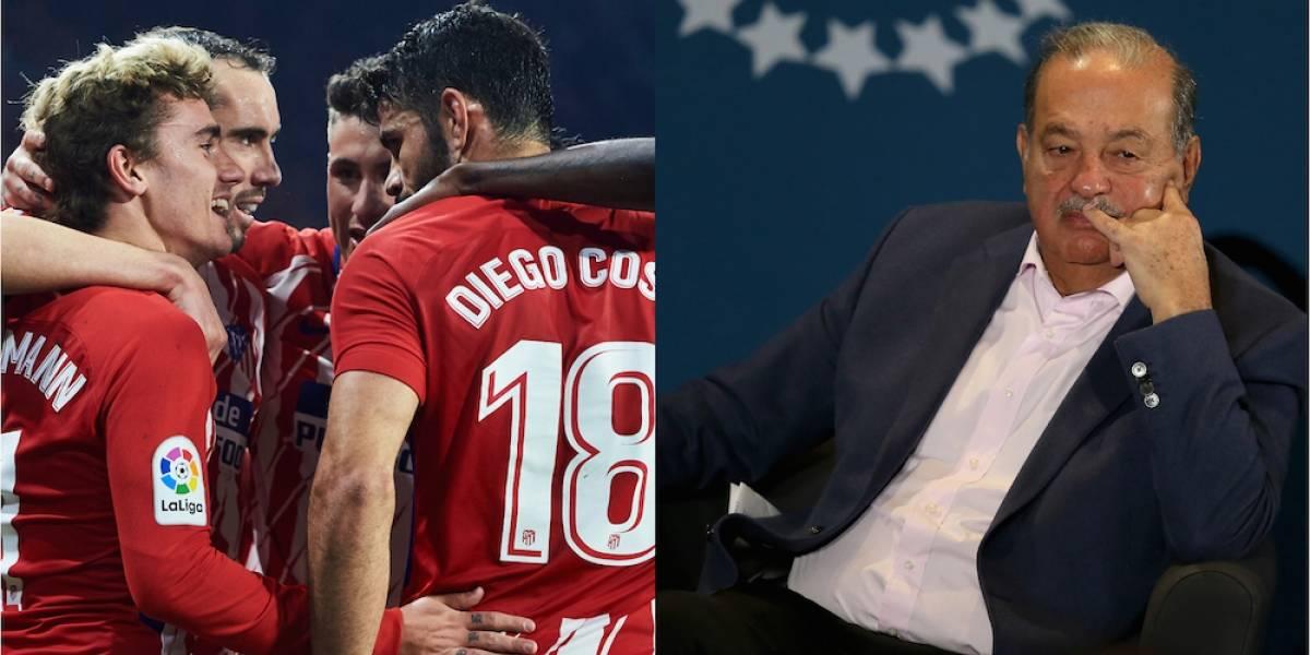Atlético de Madrid renegocia deuda con el magnate mexicano Carlos Slim
