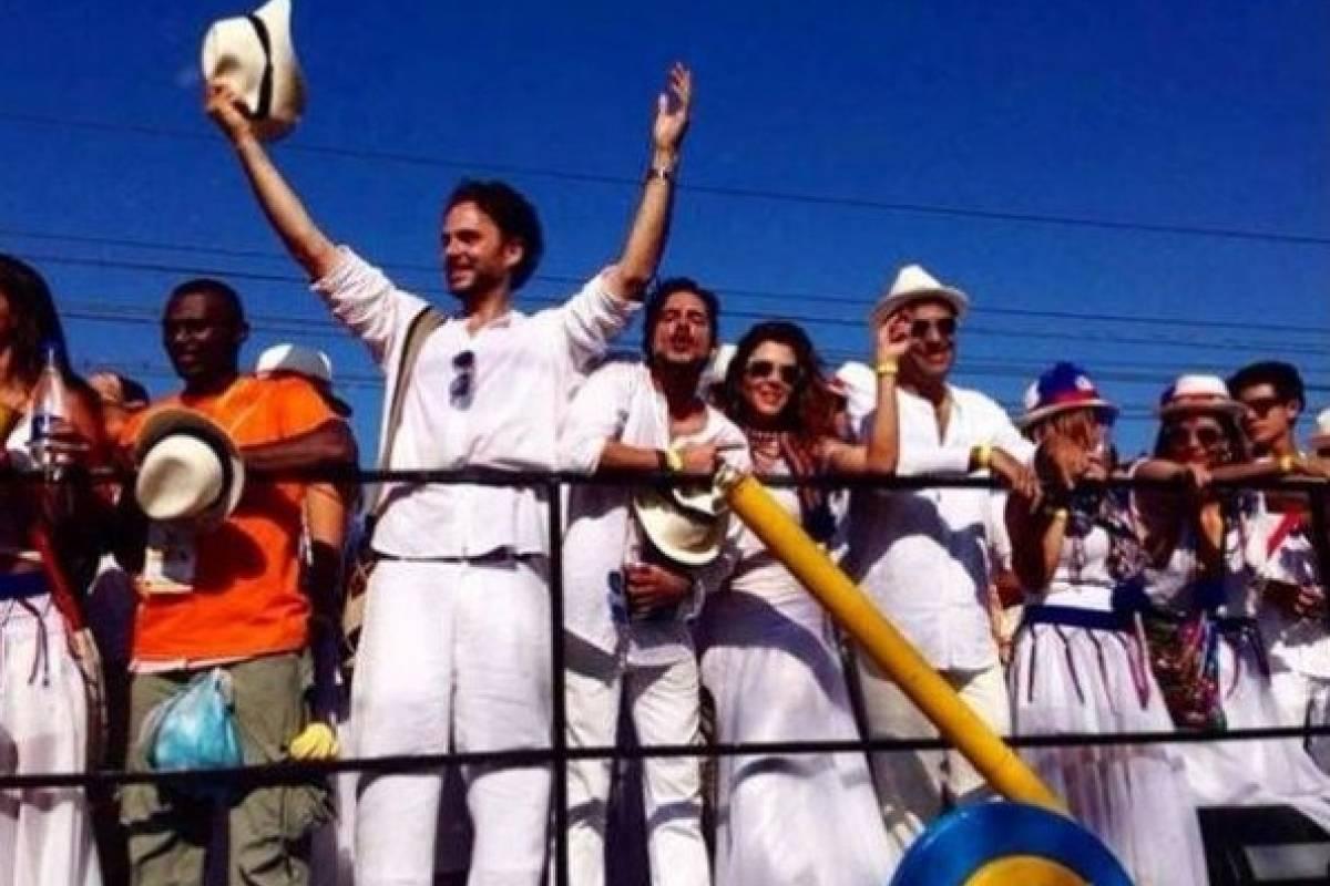 Con Manolo Cardona en el Carnaval de Barranquilla Instagram