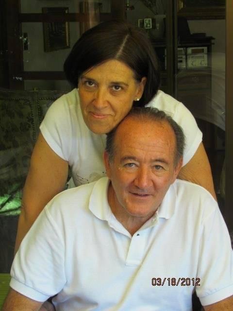 Roberto Luis Audano López junto a Conchy Arregui, asesinada