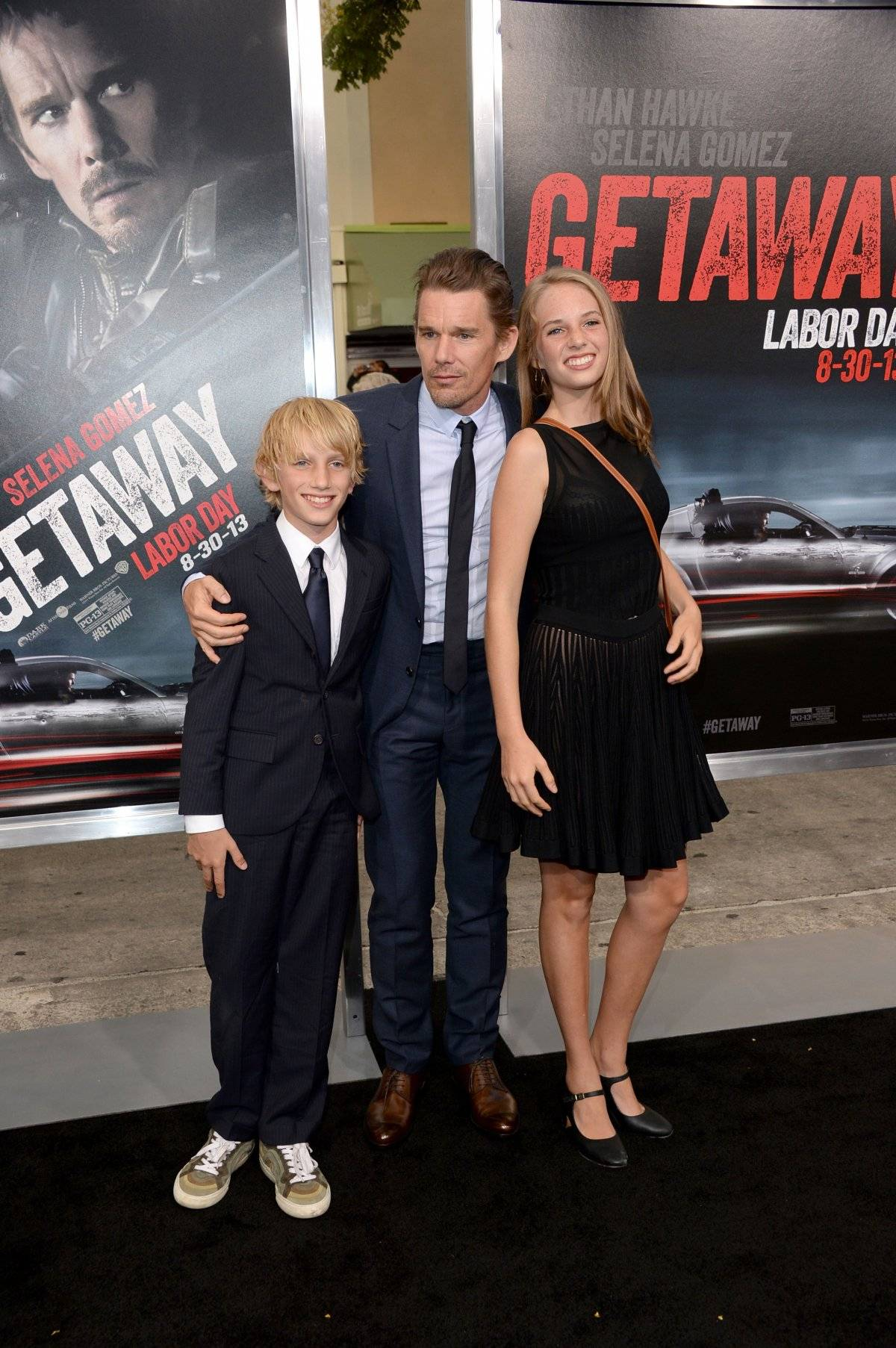 Ethan Hawke e os filhos