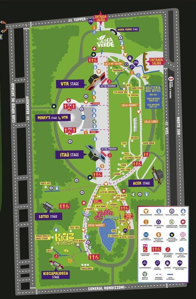 Mapa LollaCl