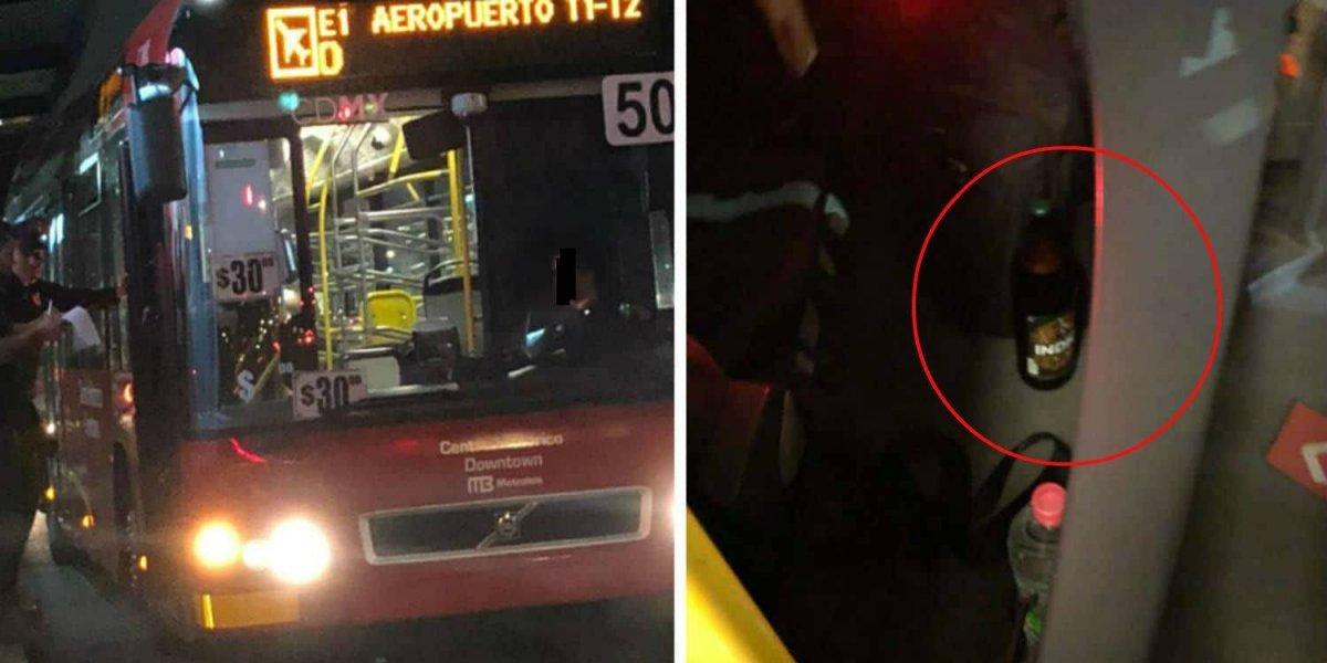 Dan de baja a chofer de Metrobús por beber cerveza mientras conducía