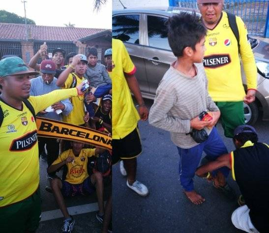 El conmovedor acto de hinchas de Barcelona SC en Paraguay