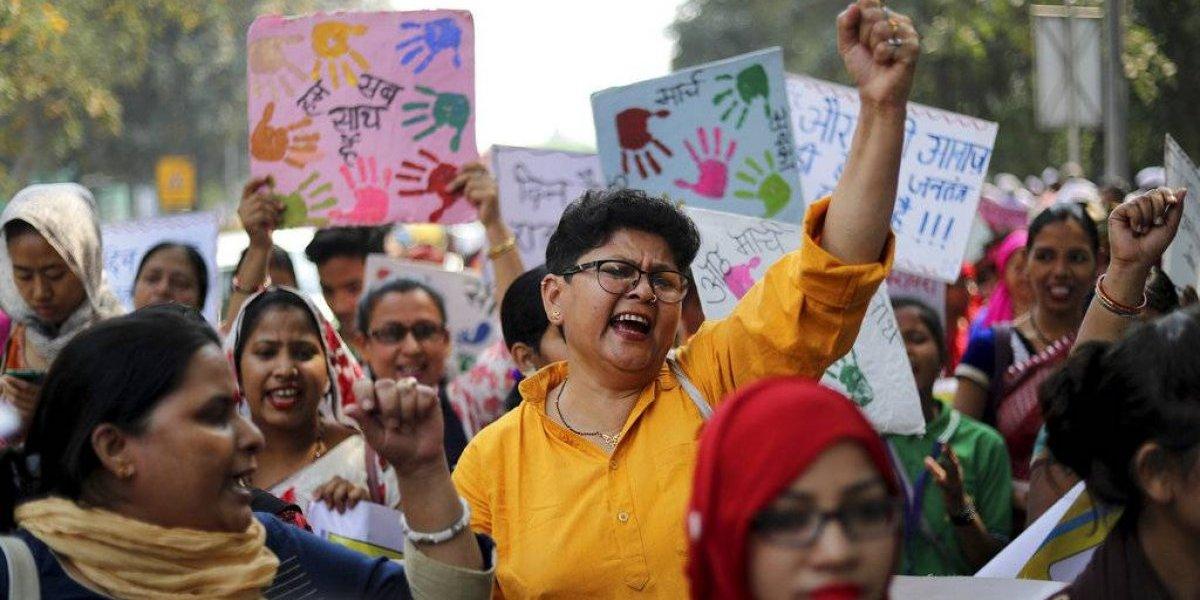 Mujeres marchan en Filipinas, India y Corea del Sur
