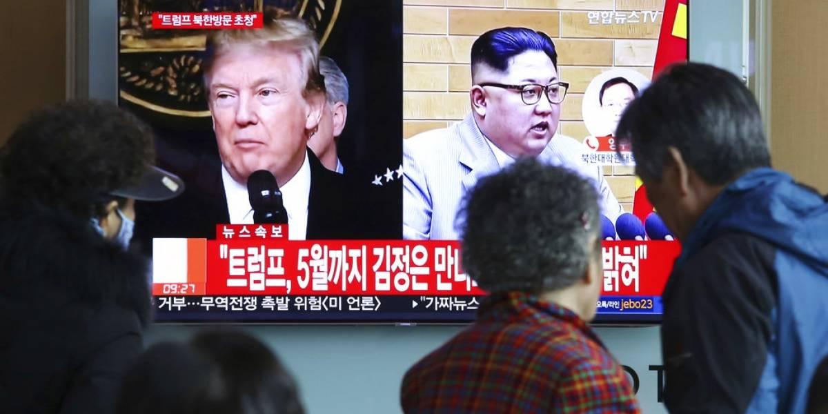 Trump acepta reunirse con Kim Jong Un en mayo