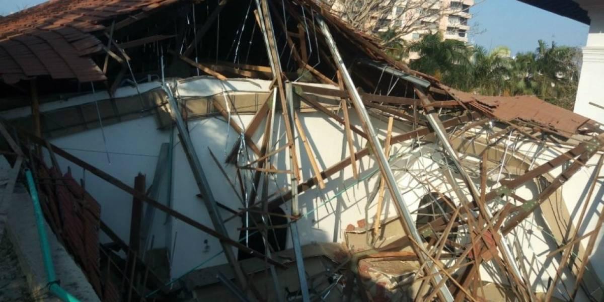 Dos techos de salones de Bellas Artes colapsaron en Barranquilla