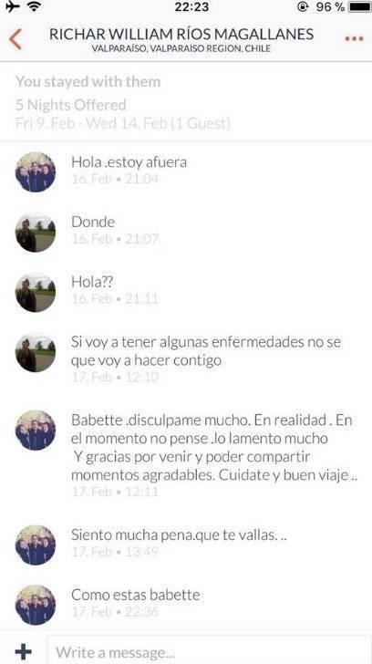 Captura de pantalla de la conversación con Richard Ríos