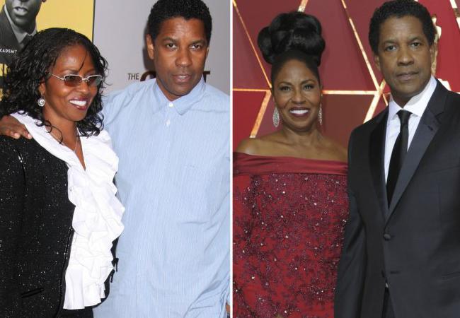 Denzel Washington y Pauletta Pearson