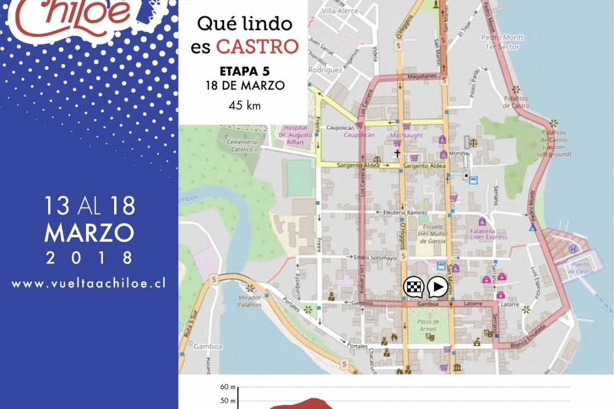 Las etapas de la Vuelta a Chiloé Gentileza