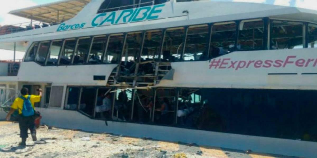 FOTOS: Así es el artefacto casero que explotó en ferry en Playa del Carmen