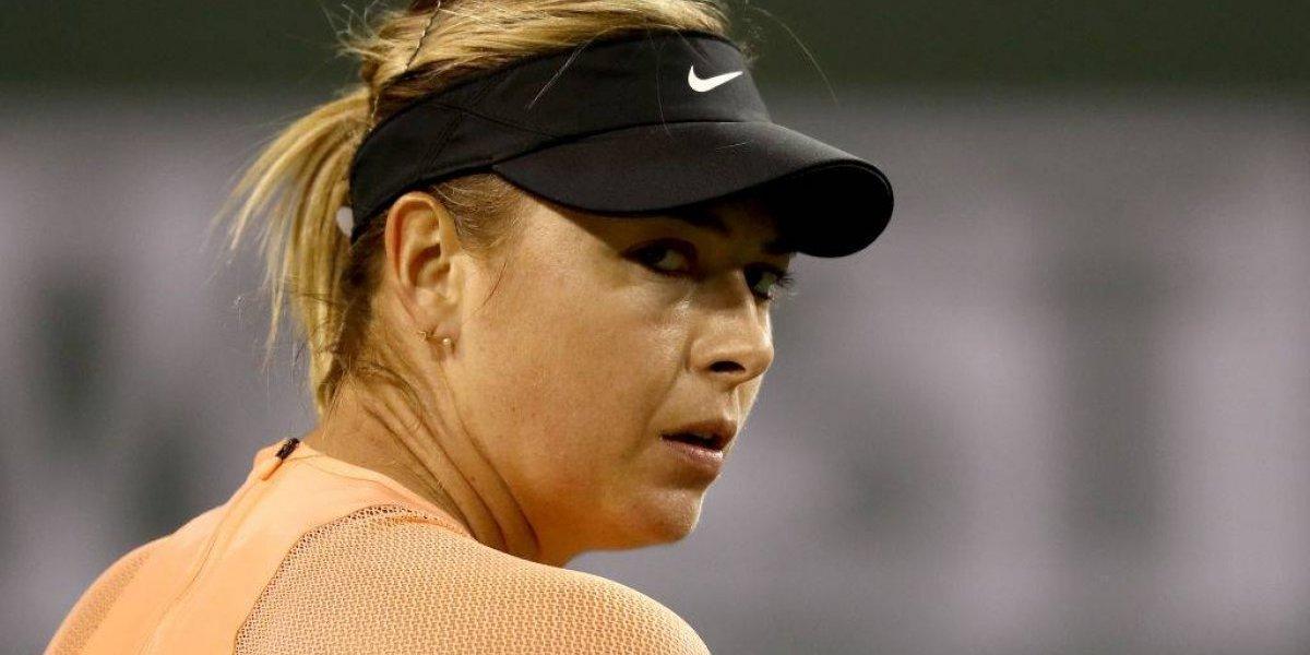 María Sharapova es eliminada en primera ronda de Indian Wells