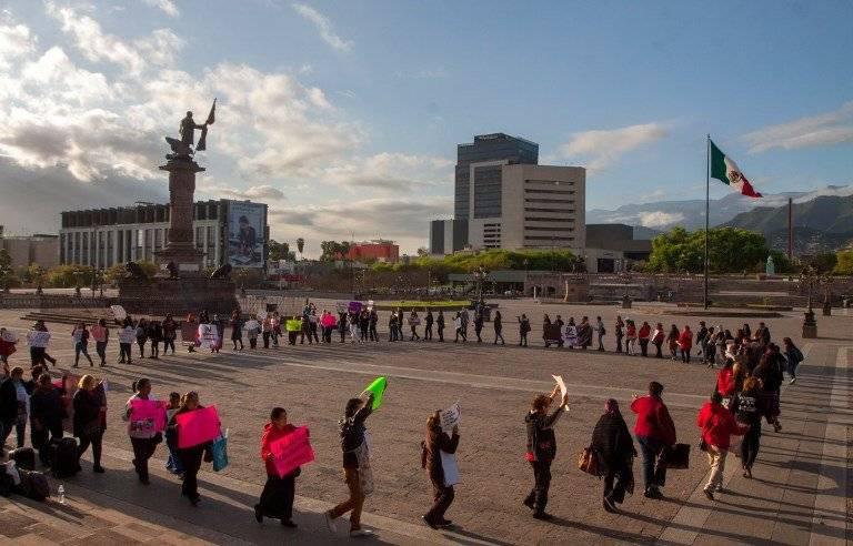Manifestación en México. Foto: AFP
