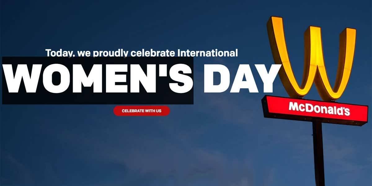 McDonald's transforma 'M' em 'W' para Dia da Mulher nos EUA