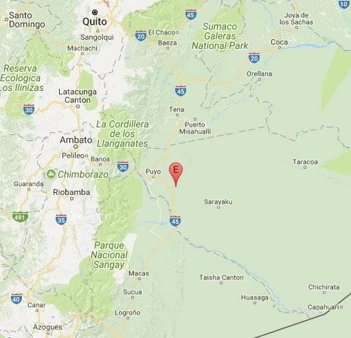 Sismo de 3.7 en la escala de Richter se registró en Puyo, Pastaza