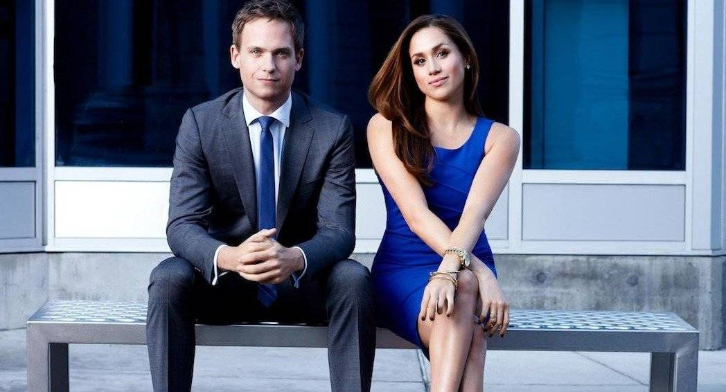 Suits - (Mike Ross) e Meghan Markle (Rachel Zane)