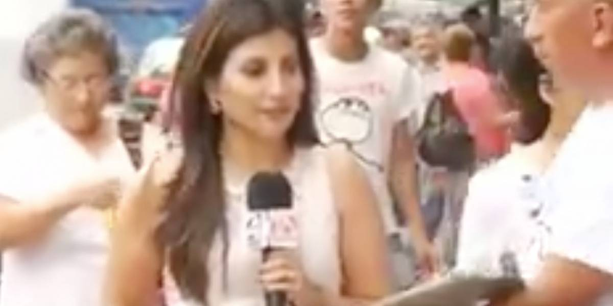 Interrumpen a reportera de Teleamazonas en plena grabación
