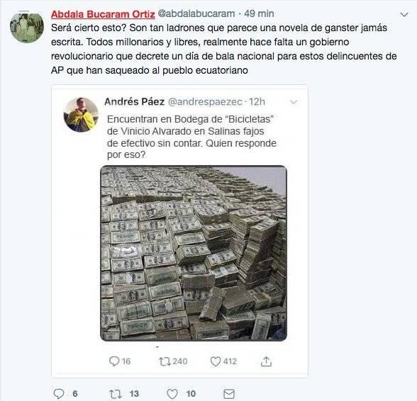 Twitter Andrés Páez denuncia tuit falso sobre Vinicio Alvarado
