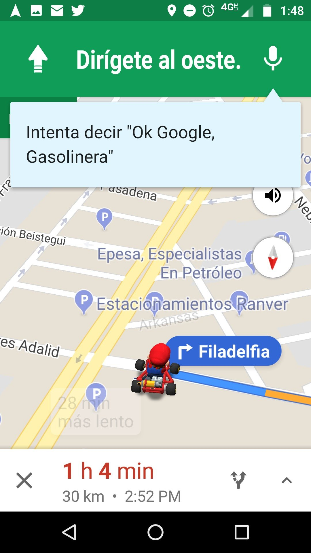 Mario Bros en Google Maps Foto: Google Maps