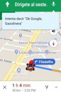 Mario Bros en Google Maps