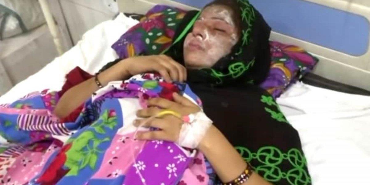 No Dia da Mulher, homem pulveriza ácido na esposa por dar à luz a uma menina