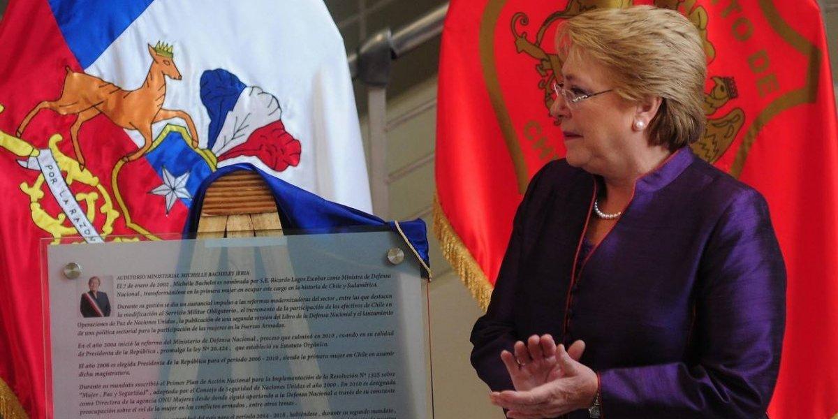 Michelle Bachelet inaugura auditorio Michelle Bachelet