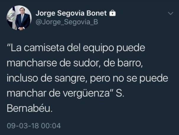 Jorge Segovia no ocultó su frustración