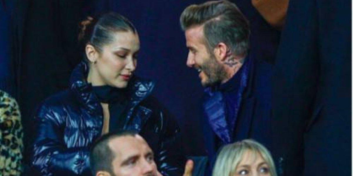 Captan a David Beckham coqueteando con una modelo en el estadio