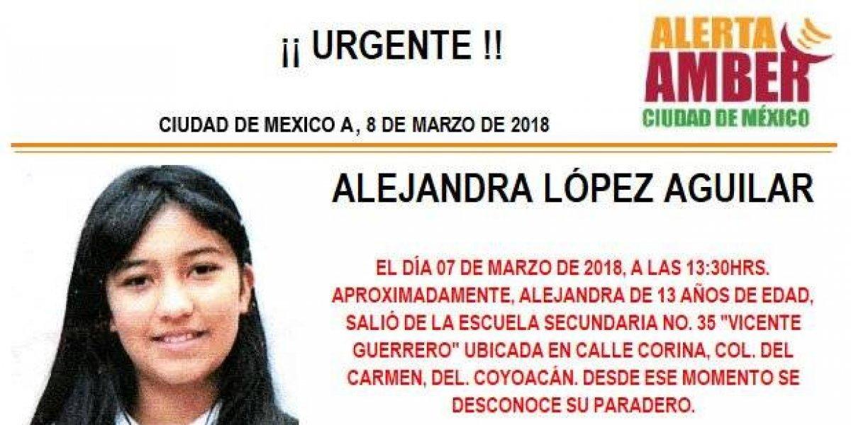 Alerta AMBER: Alejandra López Aguilar desapareció al salir de la secundaria