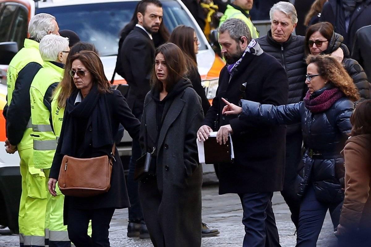 Fioretti en el funeral de Davide Astori con una evidente y profunda tristeza |GETTY IMAGES