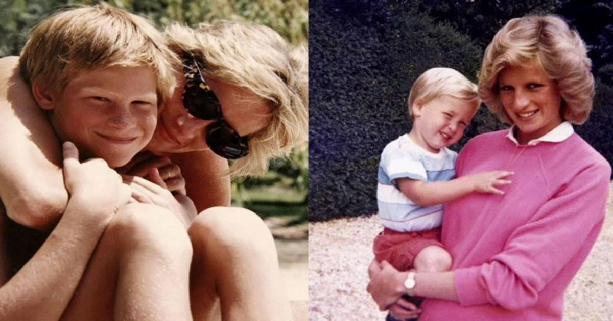 princesa Diana príncipe Harry príncipe William