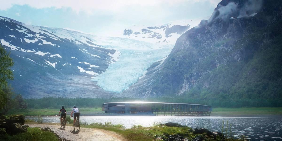 Hotel em formato de anel e com energia solar será construído no Círculo Ártico